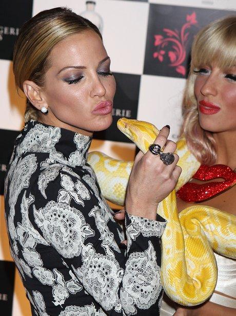 Sarah Harding with snake