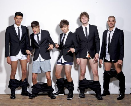 The Wanted in underwear