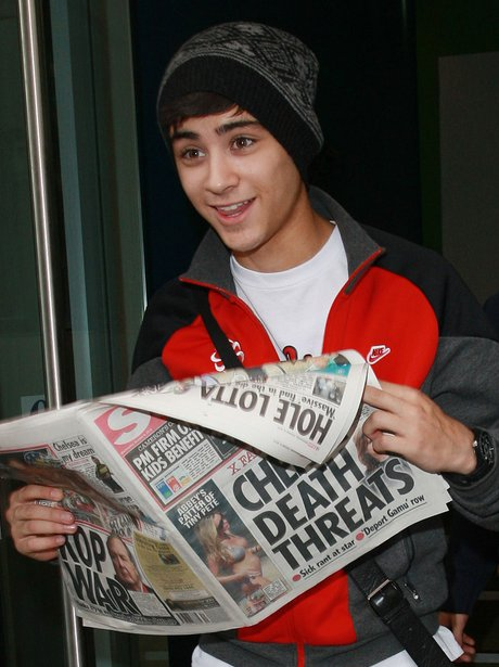 Zayn Malik at the start of One Direction's fame.