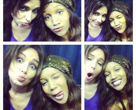 Ambrya Underwood and Cheryl Cole photobooth