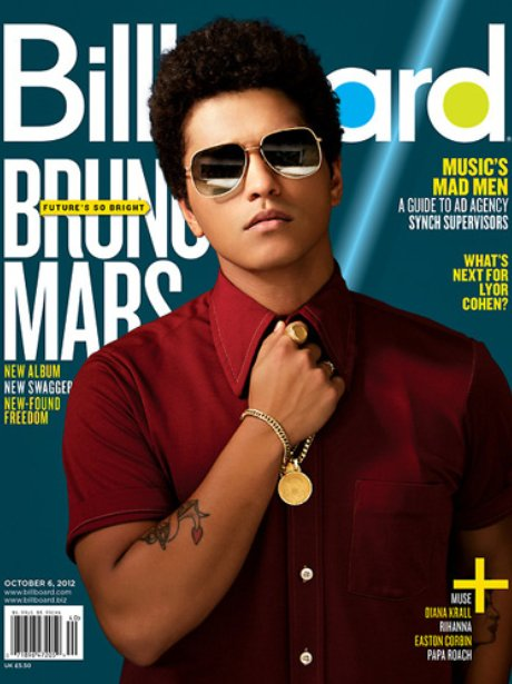 Bruno Mars on the cover of Billboard