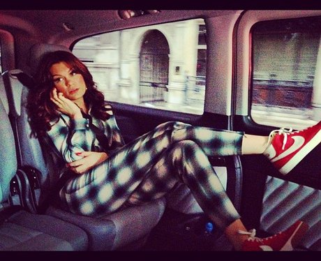 Jessie J in a taxi in London