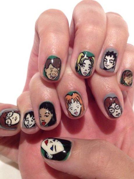 Katy Perry's cartoon nails