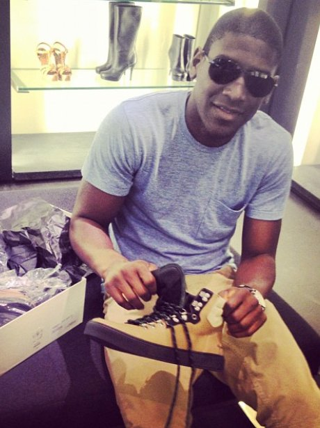Labrinth shopping for trainers