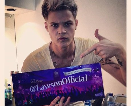 Lawson chocolate bar on twitter