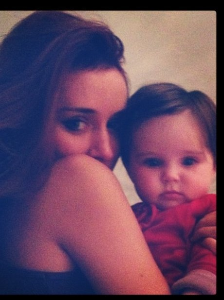Una Healy and Baby Aoife
