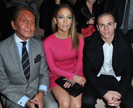 Jennifer Lopez and Casper Smart at Paris Fashion Week.