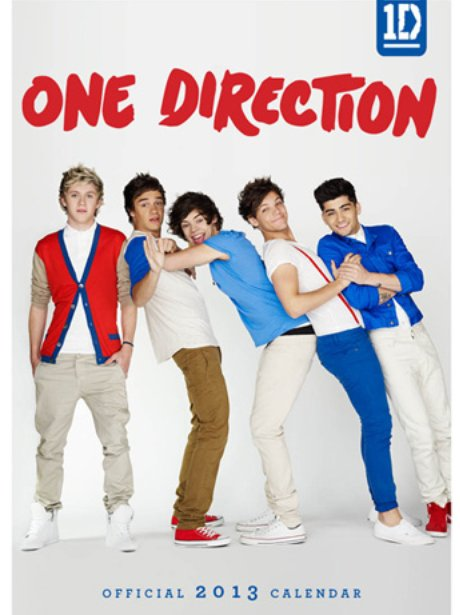 One Direction's 2013 calendar cover.