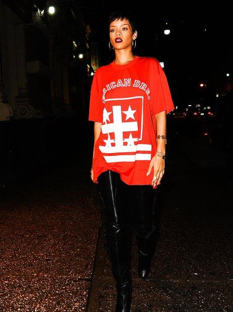 Rihanna at a recording studio in New York.