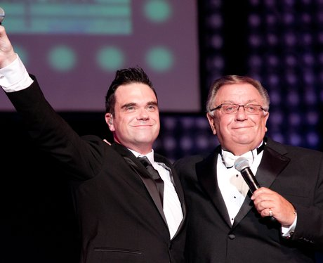 Robbie Williams and Father Pete Conway