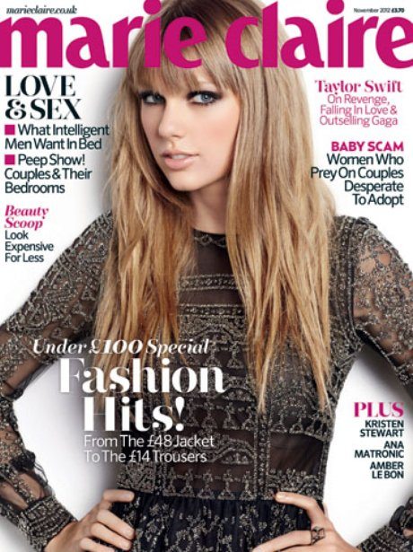 Taylor Swift covers Marie Claire magazine.