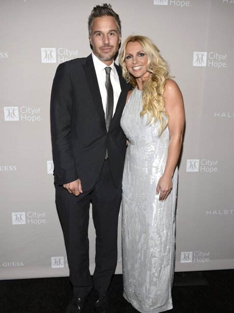 Britney Spears and Jason Trawick on the red carpet.