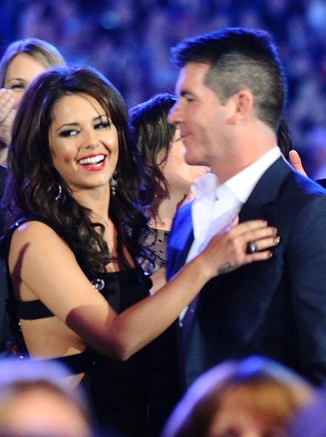 Cheryl Cole and Simon Cowell together on The X Factor.