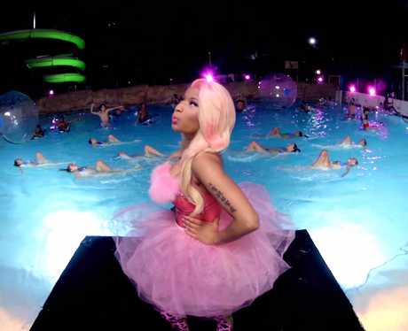 Nicki Minaj on a diving board