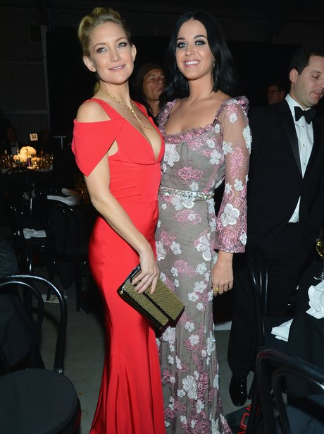 Kate Hudson and Katy Perry attend amfAR's I