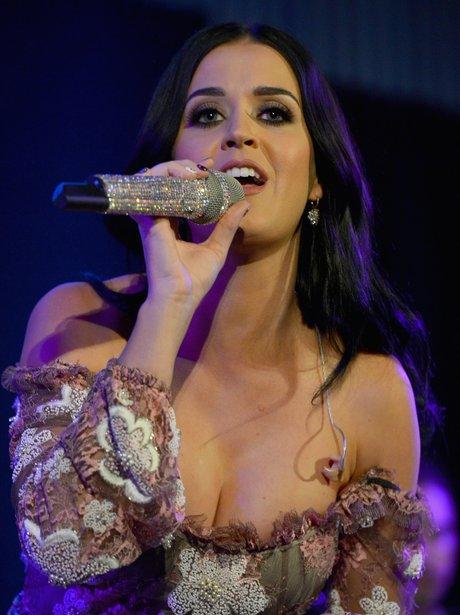Katy Perry sings live in Los Angeles.