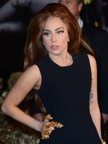 Lady Gaga attends her perfume launch in London.
