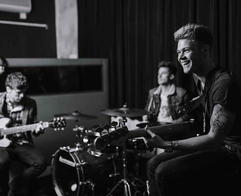 Lawson in the studio