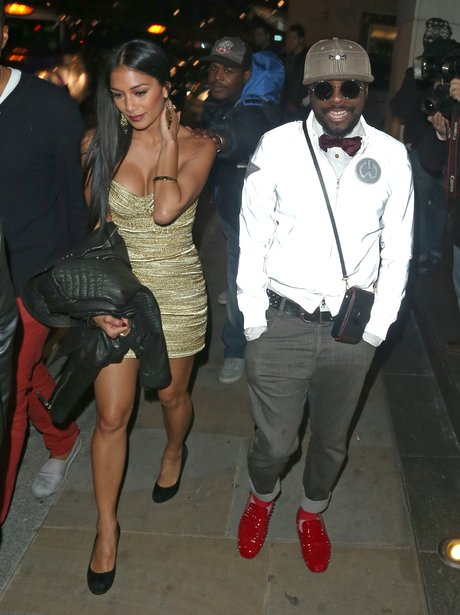 Nicole Scherzinger and Will.i.am at Cheryl's after party.