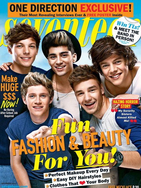 One Direction 'Seventeen' Magazine