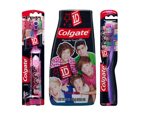 One Direction's new dental care range.