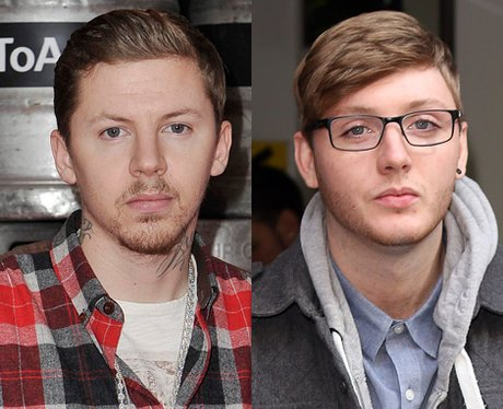 Professor Green and James Arthur lookalike