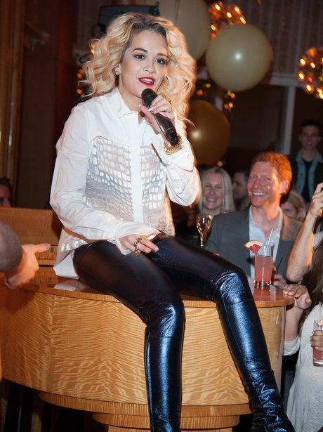 Rita Ora performing in New York City.