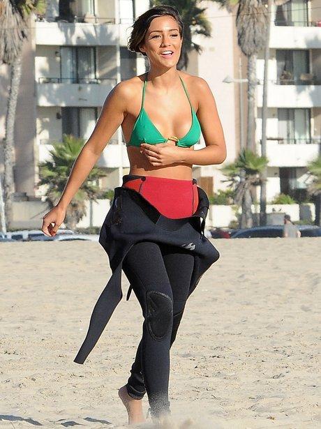 Frankie Sandford in bikini