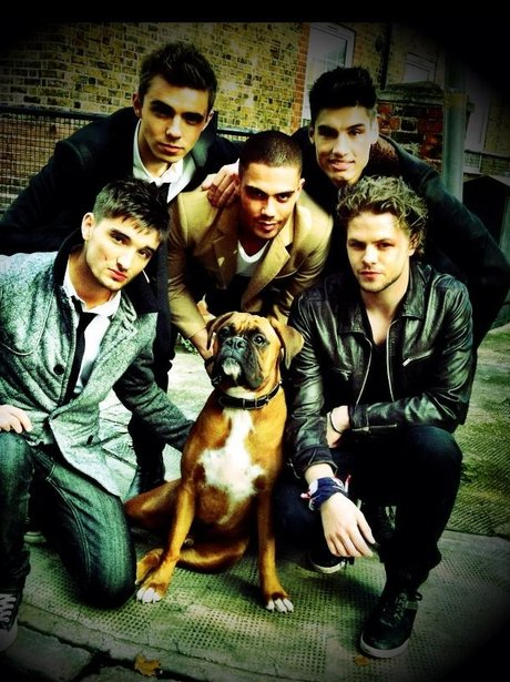 The Wanted with a dog.