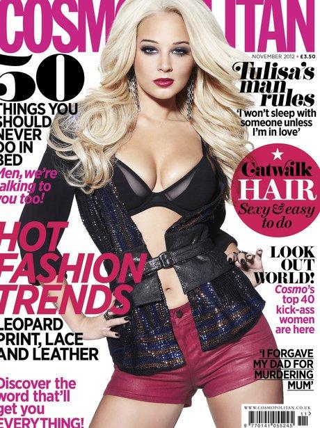 Tulisa covers Cosmpolitan Magazine.