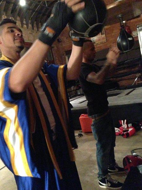 Aston and Luke Smith boxing