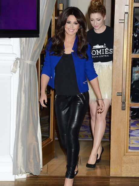 Cheryl Cole at GIrls Aloud conference.