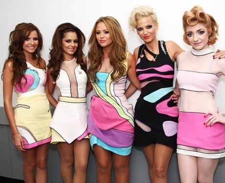 Girls Aloud backstage