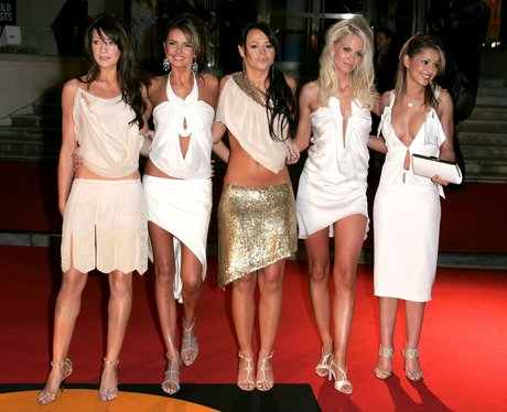 Girls Aloud arrive at the BRIT Awards 2005