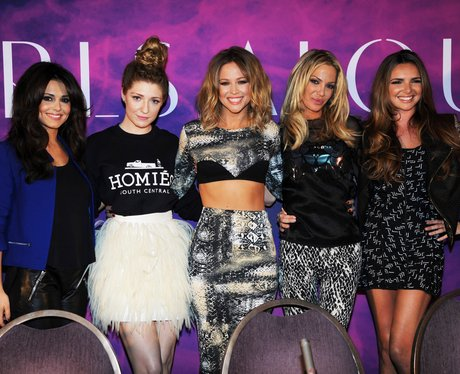 Girls Aloud at their press conference in 2012.