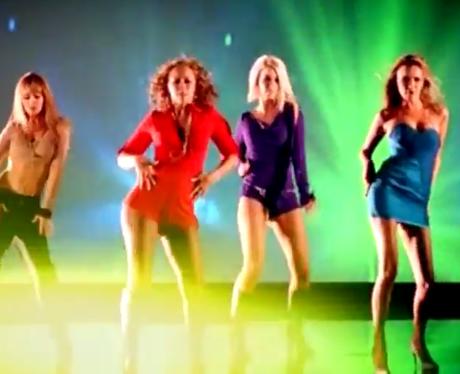 Girls Aloud 'Something Kinda Oooh' video still