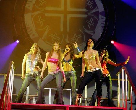 Girls Aloud perform on tour.