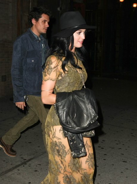 Katy Perry and John Mayer out for dinner.