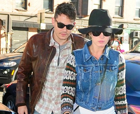 Katy Perry and John Mayer in Manhattan.