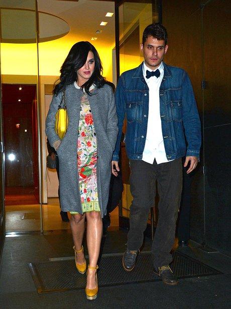 Katy Perry and John Mayer celebrate his birthday.