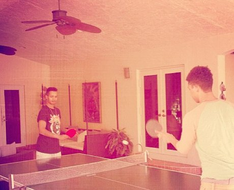 Rizzle Kicks playing table tennis in the studio