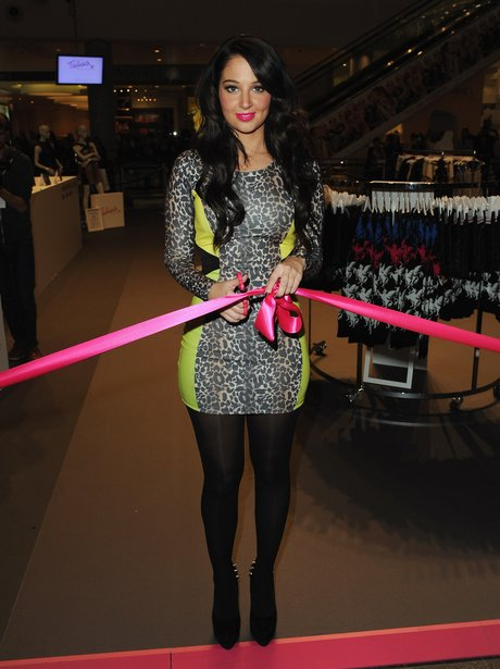 Tulisa launches her new clothing range for Bank