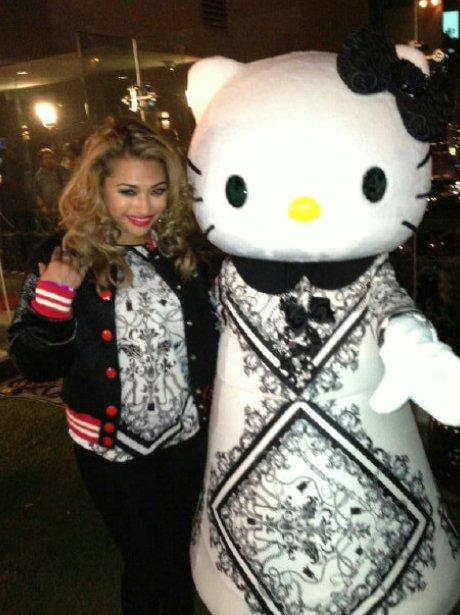 Vanessa White with Hello Kitty