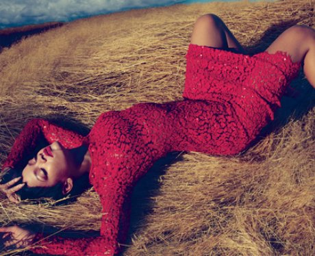 Rihanna appears on Vogue's November 2012 issue