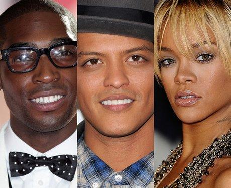 Tinie Tempah, Bruno Mars, Rihanna