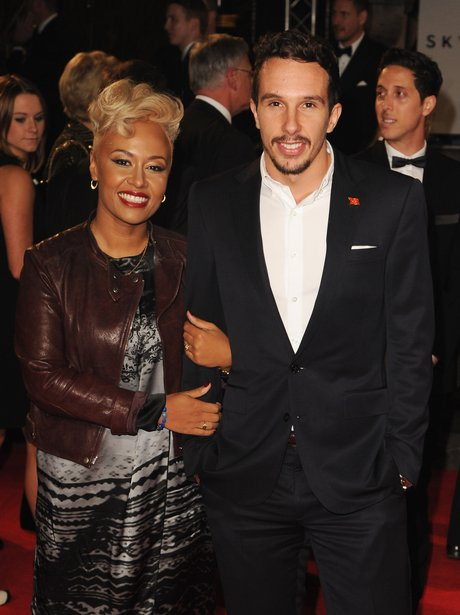 Emeli Sande and Adam Gouraguine at the Skyfall premiere