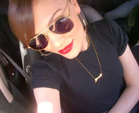 Jessie J wearing sunglasses