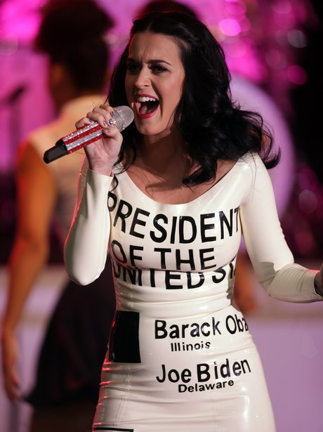 Katy Perry voting dress