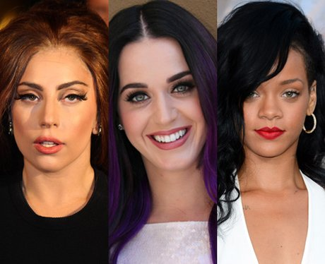 Lady Gaga, Katy Perry and Rihanna