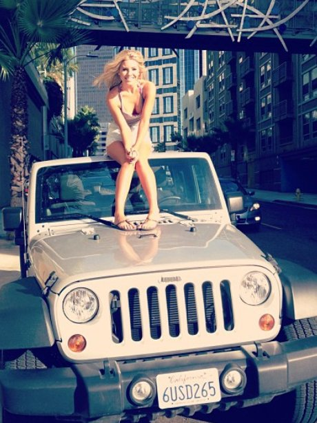 Mollie King on Jeep